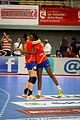 Naiara Egozkue y Alexandrina Barbosa - Jornada de las Estrellas de Balonmano 2013 - 01.jpg