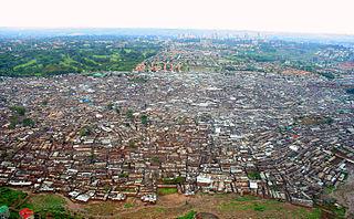 Kibera Urban slum in Nairobi, Kenya