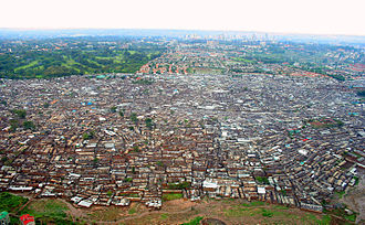 Kenya - View of Kibera, the largest urban slum in Africa