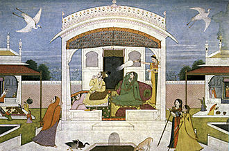 Nishada Kingdom - An 18th century Pahari painting of Nala-Damayanti