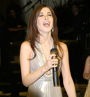 Nancy Ajram - Ajram performing in Cairo, 2008.