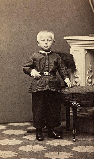 Fridtjof Nansen - Nansen in 1865 (age 4)
