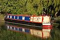 Narrowboat moored below bridge 24, Grand Union Canal - geograph.org.uk - 1300518.jpg