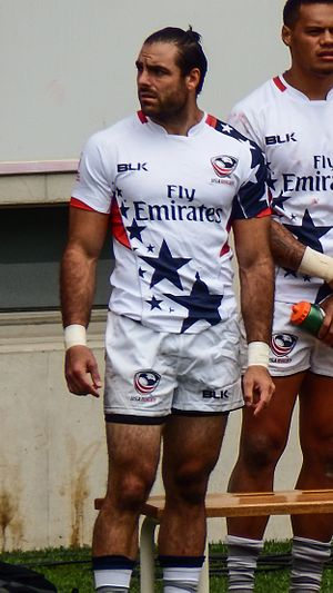 Nate Ebner - Nate Ebner as a rugby sevens player during the 2016 Paris Sevens.