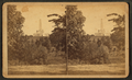 National Lincoln Monument, Springfield, Illinois. View from a point slightly east of north from the Monument, and across a ravine running east and west through Oak Ridge Cemetery, from Robert N. Dennis collection of stereoscopic views.png
