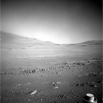 Opportunity (rover) - MER-B NavCam image Sol 4959 Start of January 2018, looking along rim of Endeavour crater