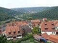 Neckargemünd - Dilsberg - Bergfeste - Blick von Ringmauer über Dorf auf Neckargemünd.JPG