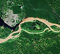 Negro-Amazon confluence and Manaus (Brazil) from space.jpg