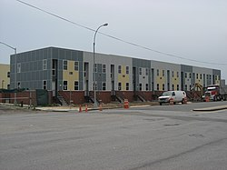 Houses of the Nehemiah Spring Creek development under construction in 2008.