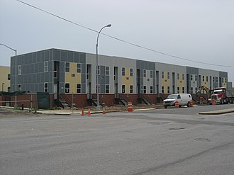 Spring Creek, Brooklyn - Houses of the Nehemiah Spring Creek development under construction in 2008.