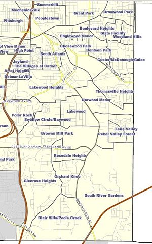 Neighborhoods in Atlanta - Neighborhoods of Southeast Atlanta
