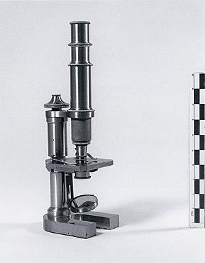 Nettie Stevens - Nettie Stevens's microscope, Bryn Mawr College