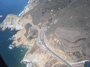 Devil's Slide (California) - South portal of the new Tom Lantos Tunnels under Devils Slide, 2013