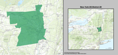New York 's 20th congressional district - since January 3, 2013.