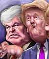 Newt Gingrich and Donald Trump - Caricatures (6462878393).jpg