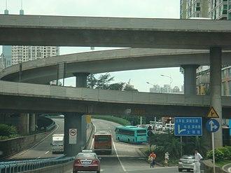 Effects of the car on societies - Urban interchange in Shenzhen