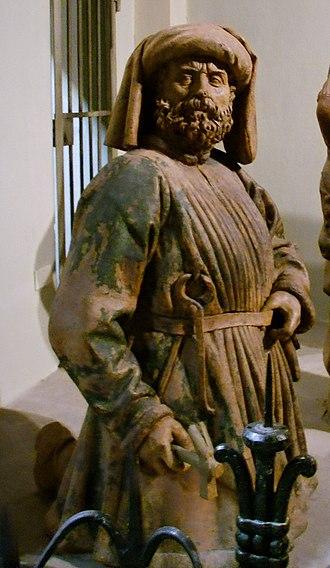 Niccolò dell'Arca - Image: Niccolò dell'arca, Compianto sul Cristo morto, Chiesa di S. Maria della vita, Bologna 12