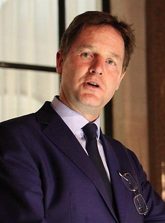Nick Clegg - Image: Nicholas Clegg cropped