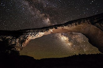 Natural Bridges National Monument - Owachomo Bridge at night