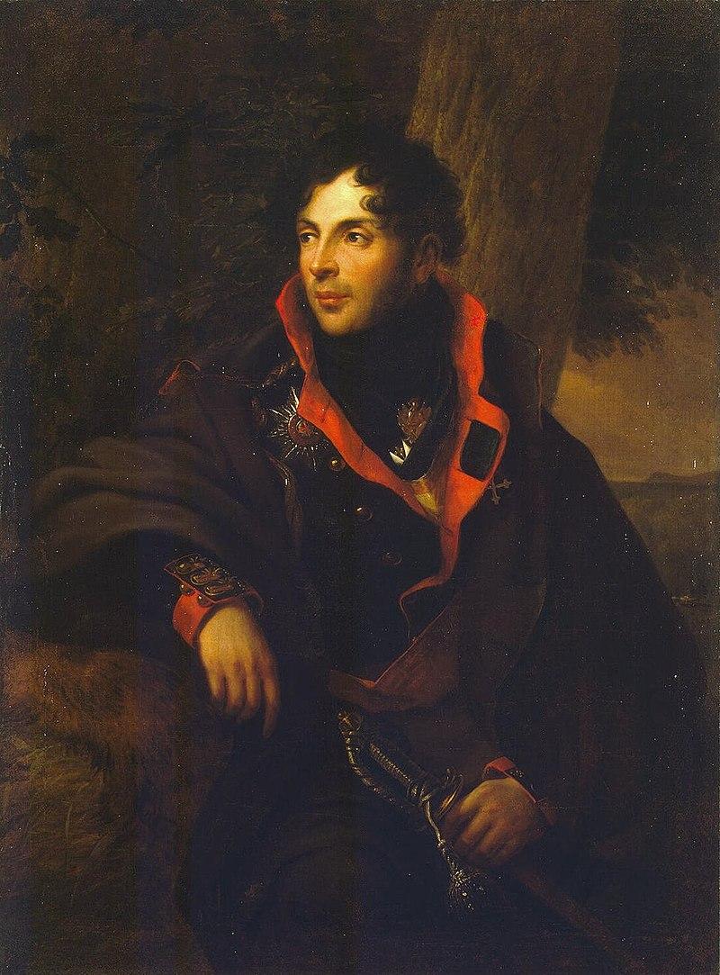 Фридрих Георг Вейч. Портрет Н. М. Каменского (1810)