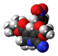 Nilvadipine molecule spacefill.png
