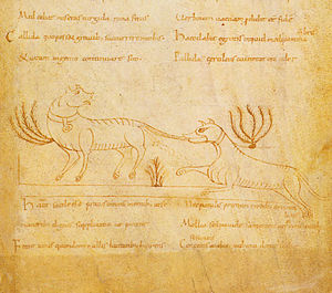 Ysengrimus - Ysengrimus, from a twelfth-century MS in the Bibliothèque nationale de France.