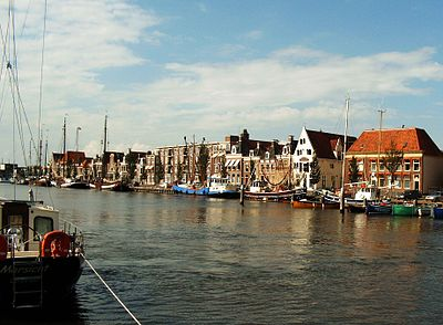 Town of Harlingen in the Westergo landstreek of Friesland Nordholland Harlingen 2004 003a.jpg
