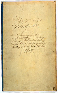 Constitution of Norway Constitution of the Kingdom of Norway, adopted on 16 May 1814