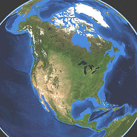Satellitbillede over Nordamerika