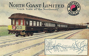 North Coast Limited - The train and route in 1911.