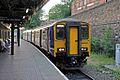 Northern Rail Class 150, 150220, Wigan Wallgate railway station (geograph 4531868).jpg