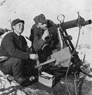 Norwegian Army Colt heavy machine gun at the Narvik front - 2 version.jpg