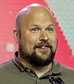 Notch receives the Pioneer Award at GDC 2016 (cropped).jpg