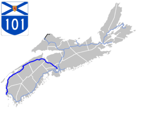 Nova Scotia Highway 101 - Image: Nova Scotia 101 Map