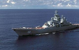 <i>Kirov</i>-class battlecruiser Class of Russian guided missile battlecruisers