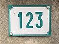 Numéro de rue 123 Chemin du Milieu (Beynost).jpg