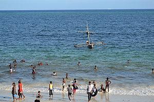 Nyali Beach from the Reef Hotel during high tide in Mombasa, Kenya 36.jpg