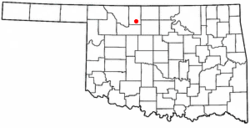 Location of Helena, Oklahoma