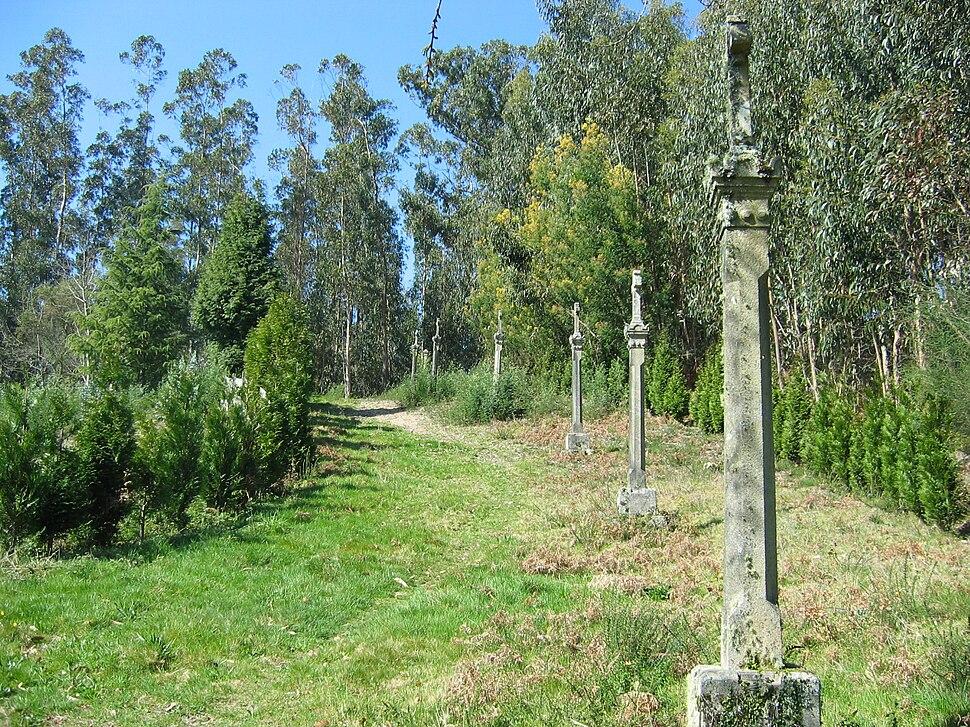 O Casal, Estacas, Cuntis Via Crucis 01-02
