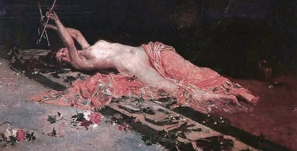 Odalisque painting by Juan Luna 1885