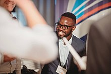 Odero Otieno speaking at Next Canada headquarters in Toronto, Canada.jpg