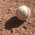 Official French FFBS baseball ball on schist (2).jpg