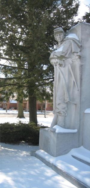 The Soldiers' Monument (Oregon, Illinois) - Taft's infantryman stares off toward home.