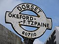 Okeford Fitzpaine, detail of finger-post - geograph.org.uk - 1752209.jpg