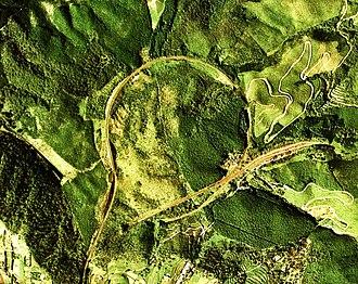 Spiral (railway) - Okoba spiral and zig zag in Hisatsu Line, Japan