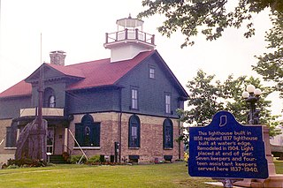 Old Michigan City Light lighthouse in Indiana, United States