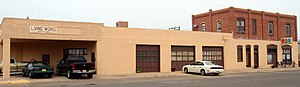 National Register of Historic Places listings in Curry County, New Mexico - Image: Old Clovis City Hall and Fire Station, Clovis, NM
