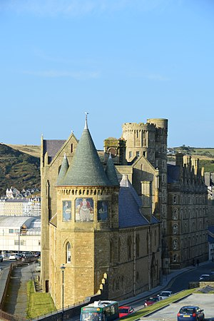 Aberystwyth University - Old College Building from the Castle