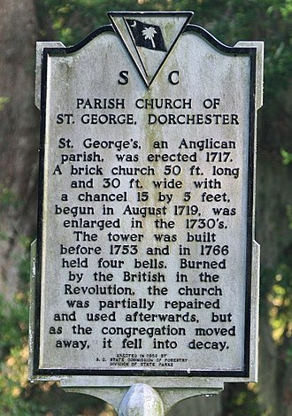 Dorchester County, South Carolina - Image: Old Dorchester Info Sign