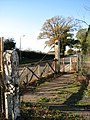 Old gates and pedestrian crossing - geograph.org.uk - 607822.jpg